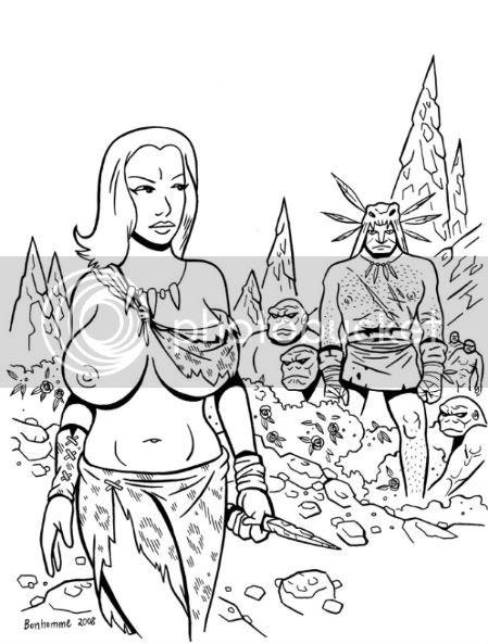 Mes illustrations Prehisto_sapinsdepierre