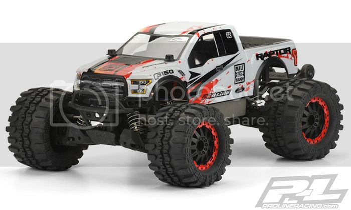 [NEW]Carro Ford F-150 Raptor 2017 Pro-MT & Stampede 4x4 2WD par Pro-Line 3471-00 Clear Body 3470-00