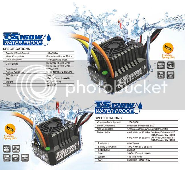 [FUTURE NEW] ESC TS150W/TS120W Waterproof par SkyRC/Sky RC ESCW