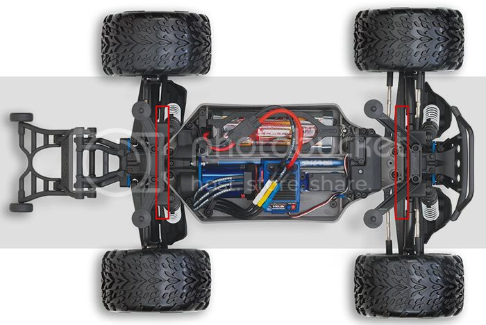 Brace / Renfort Chassis Stampede 4x4/Slash 4x4 / Rally Stampede%204x4