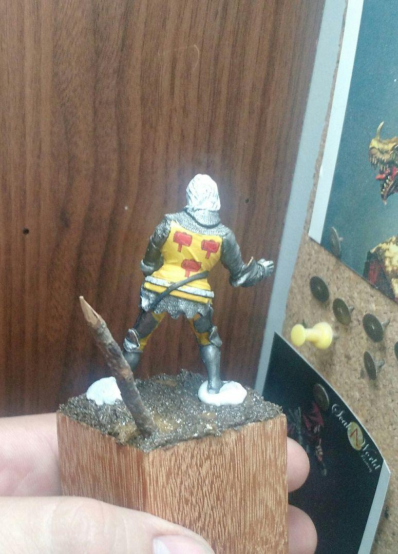 Guilhaume de Martel empunhando a Auriflama - Batalha de Agincourt - 1415 _20151224_133524_zpswufir1xd
