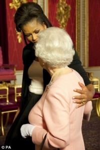 Willard's Summer 2012 Anglo-Saxon Magical Misery World Tour Queen-elizabeth-and-michelle-obama-hug-with-queen-purse2