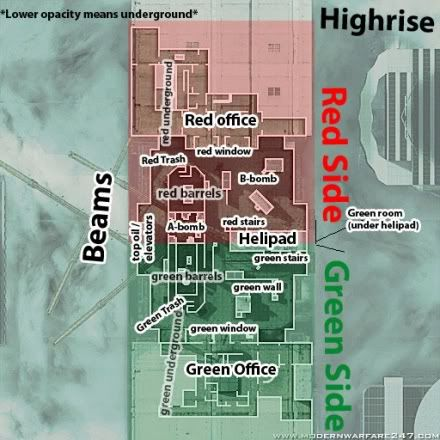mw2 callouts HighriseCallouts