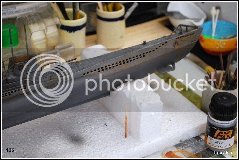 GERMAN SUBMARINO U-99 (Revell 1/125) U-99%20125