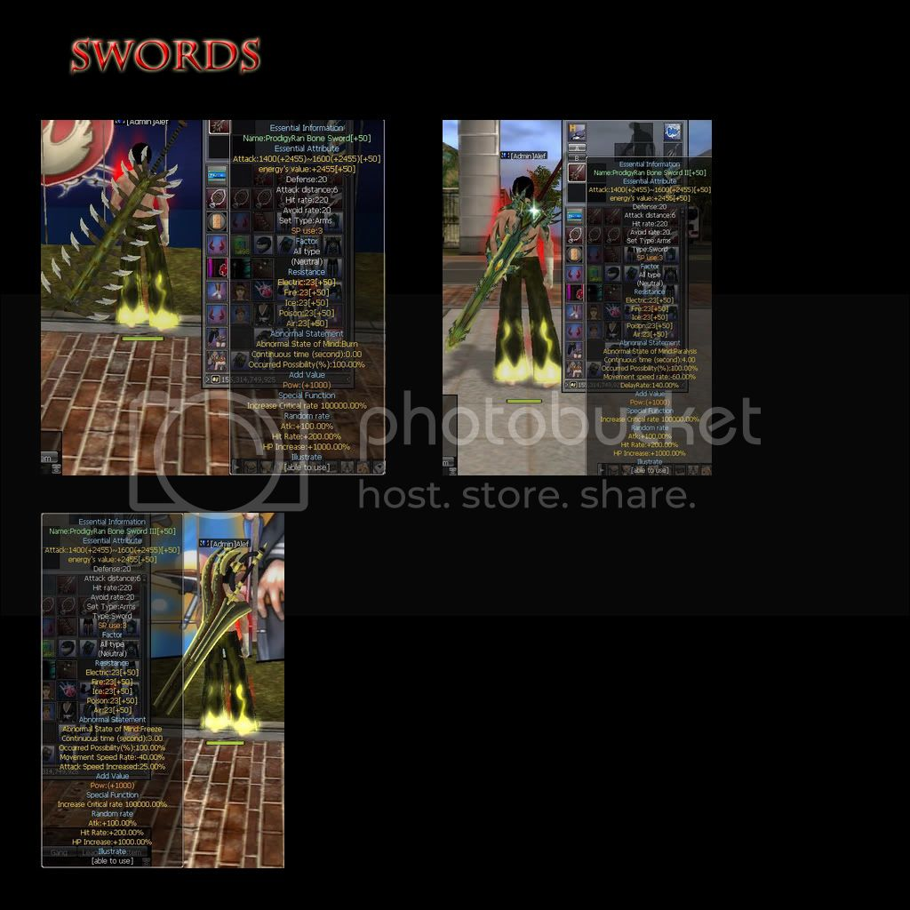 SEASON 3 WEAPONS 5swords