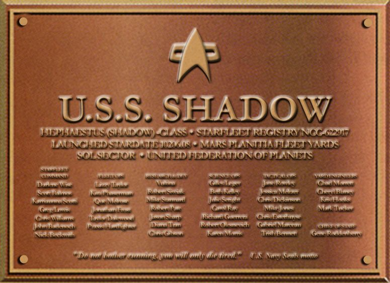 Dedication Plaque USSSHADOW