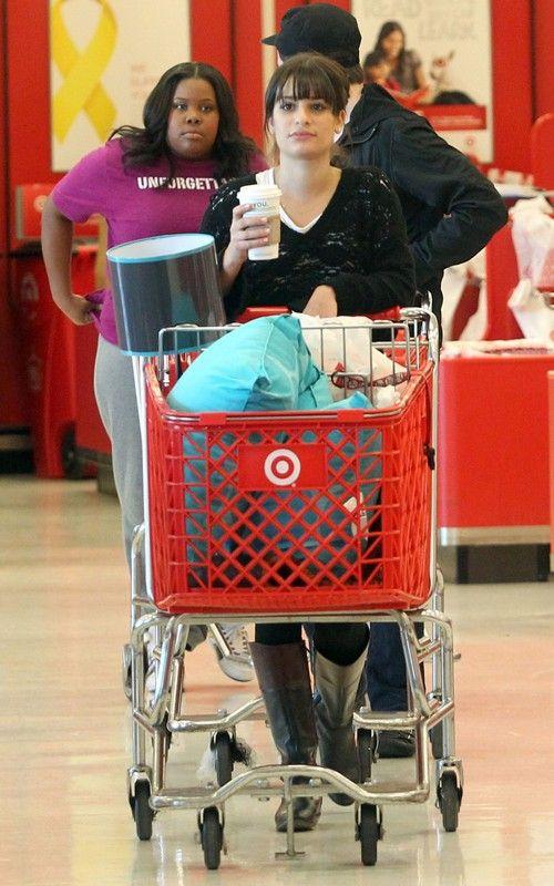 Lea, Chris and Amber go shopping Lea-michele-110310-3