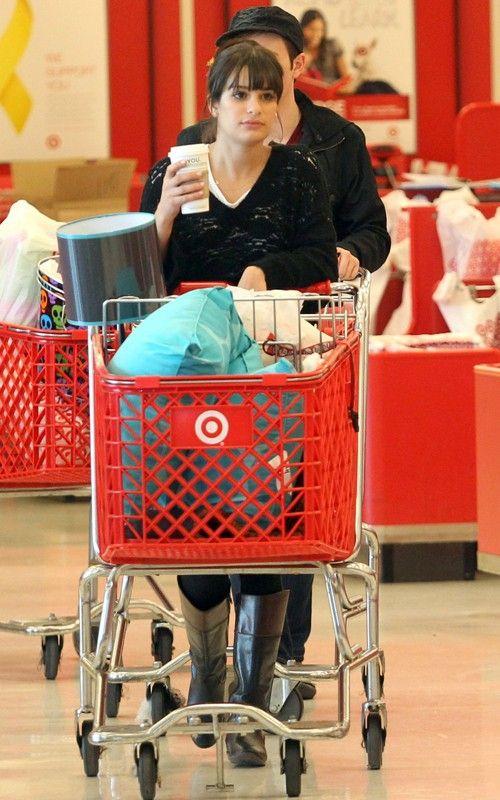 Lea, Chris and Amber go shopping Lea-michele-110310-4