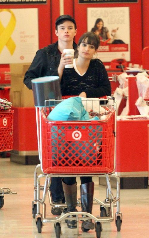 Lea, Chris and Amber go shopping Lea-michele-110310-7