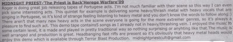 HEREGE WARFARE PROD. - Heavy Metal tape label & distro - DESASTER + + NOCTURNAL + INFERIVM+ GEHENNAH - Página 2 MidnightPriestVampyrZineMacedonia-review