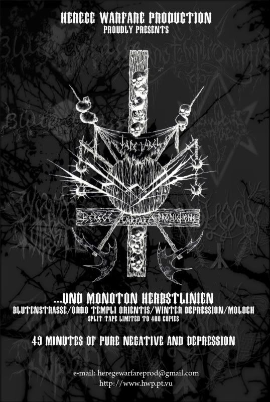 HEREGE WARFARE PROD. - Heavy Metal tape label & distro - DESASTER + + NOCTURNAL + INFERIVM+ GEHENNAH Split