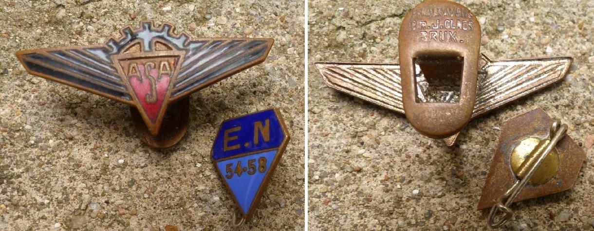 2 insignes / broches à dentifier Asa1