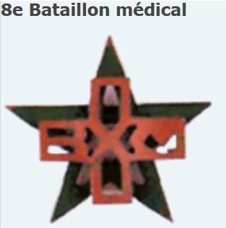 Insigne AFN Bataillon médical Bat