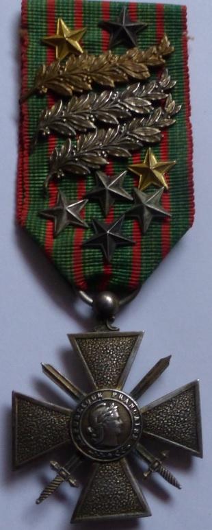 Question Croix de Guerre : citation à l'ordre de l'armée palme argent Cr1917