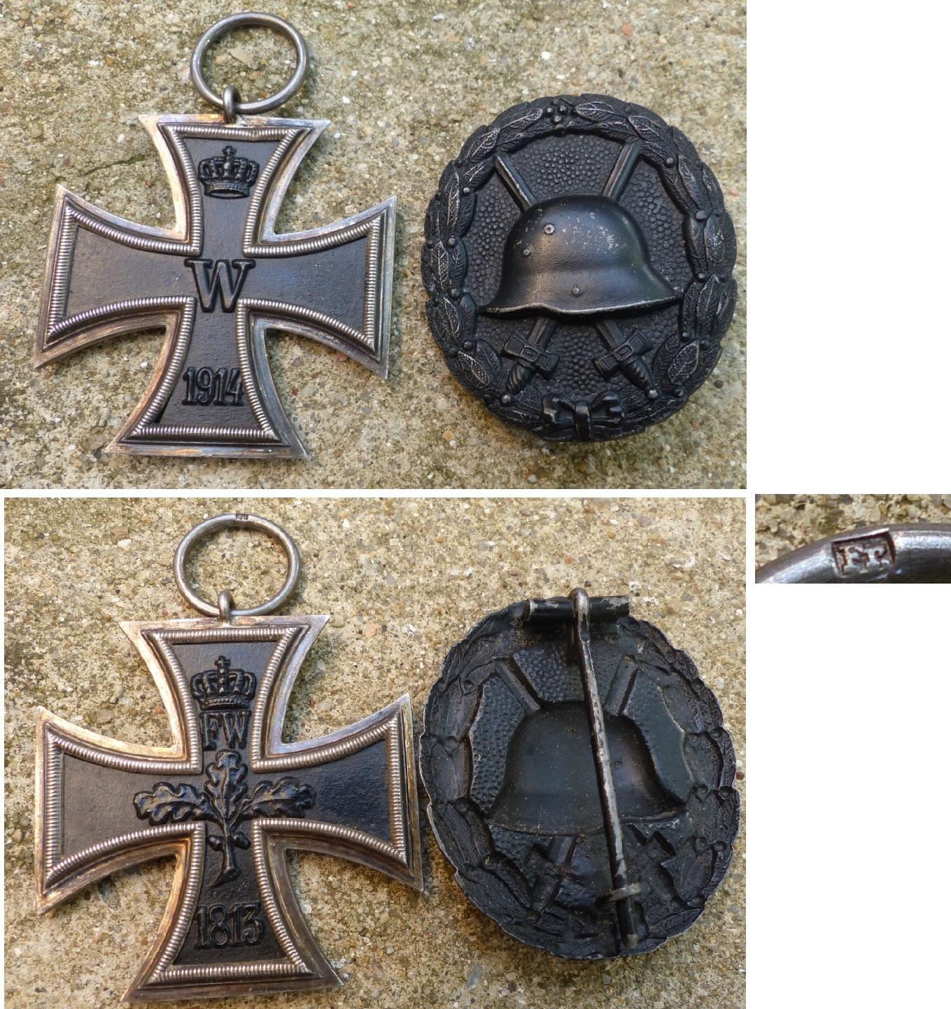 Croix de fer et badge blessé - 1ère guerre Croixfer