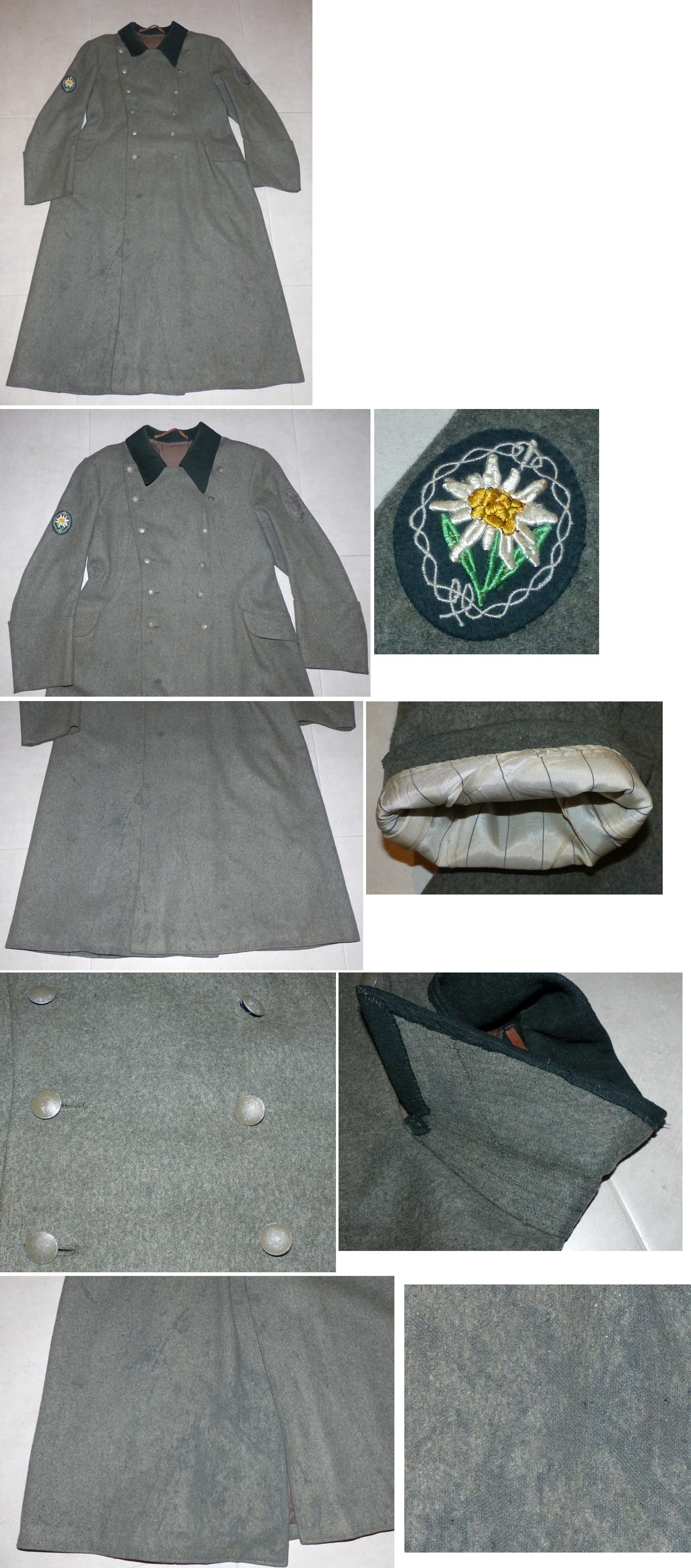 Manteau en laine M36 Gebirgsjäger Ge1