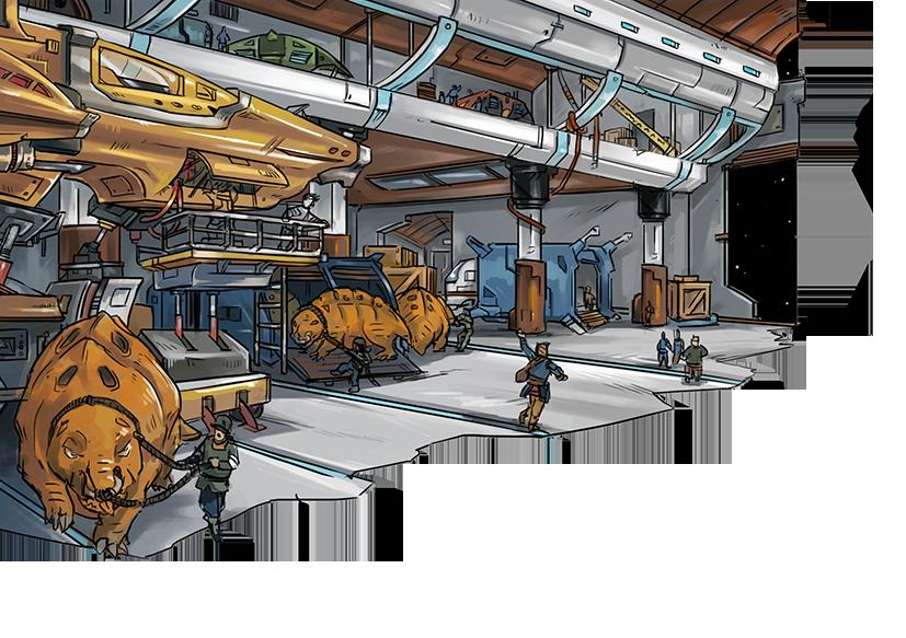 [Souscriptions Ulule] Vivere, Jdr Space Fantasy - Page 3 Hangar