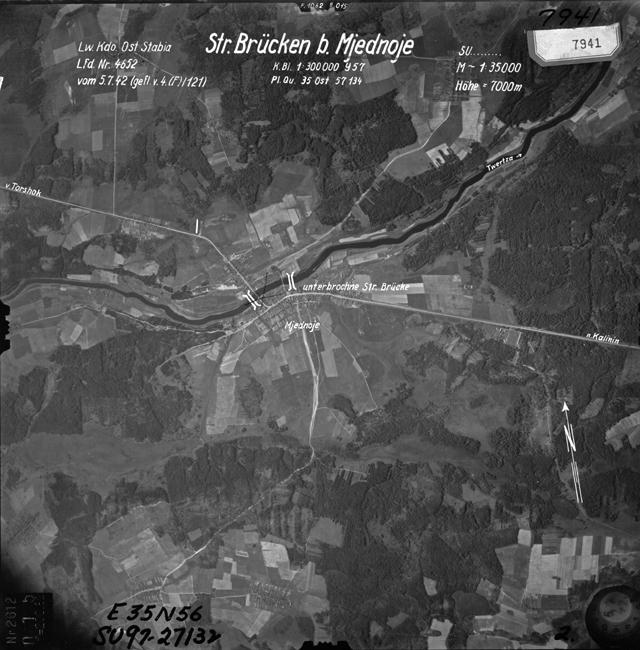 Воздушный снимок Медного, 1942 год  44212_original