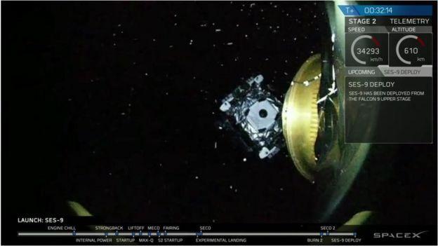 SpaceX Falcon makes clean getaway _88593906_ccvklk7w4aaq4wt