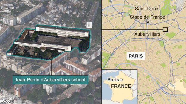 French teacher invented Aubervilliers school attack _87198189_french_school_attack_624