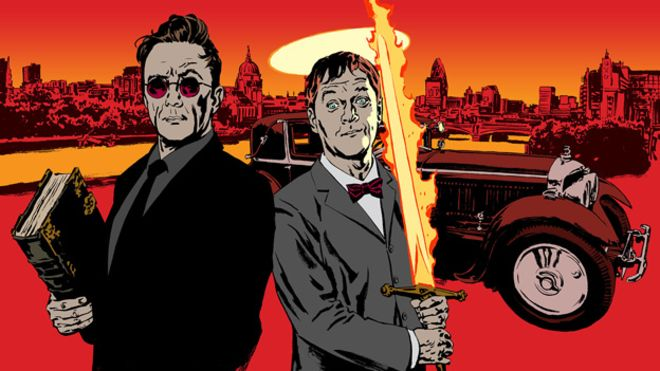 Good Omens, l'adaptation du roman de Neil Gaiman et Terry Pratchett _79790621_flamingsword_cut
