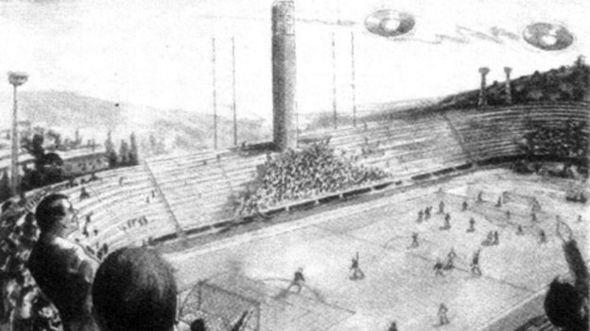 El día que varios ovnis suspendieron un partido de fútbol 141024044700_sp_ovni_cinco_624x351_bbc_nocredit