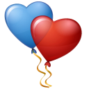 Iconset: Vista Love Icons by Icons-Land  Balloons-Hearts-icon