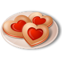 Iconset: Vista Love Icons by Icons-Land  Cookies-Hearts-icon