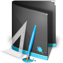 Design of forum Designs-Folder-Black-icon