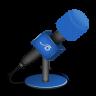Plug.Dj/Faval Microphone-foam-brightblue-icon