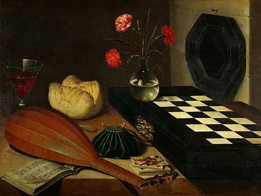 Mes natures mortes préférées Nature-morte-a-echiquier-lubin-baugin-vers-1640