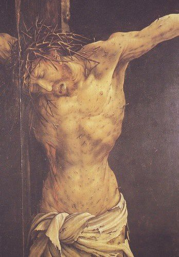 Crucifixions dérangeantes GRUNEWALD-CRUCIFIXION-COLMAR-DETAIL3