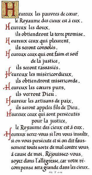 Citation 102/Miséricorde/Les Béatitudes/ Beatitudes-5r