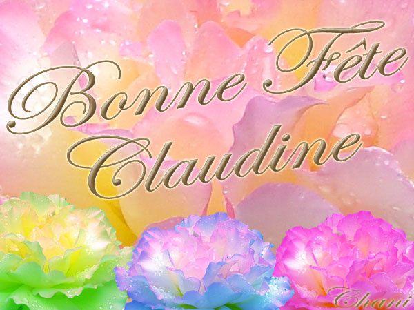bonne fête Claudine  Claudine