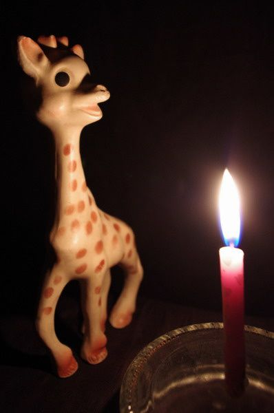 une bougie pour giraffon  1101-sophie_la_girafe