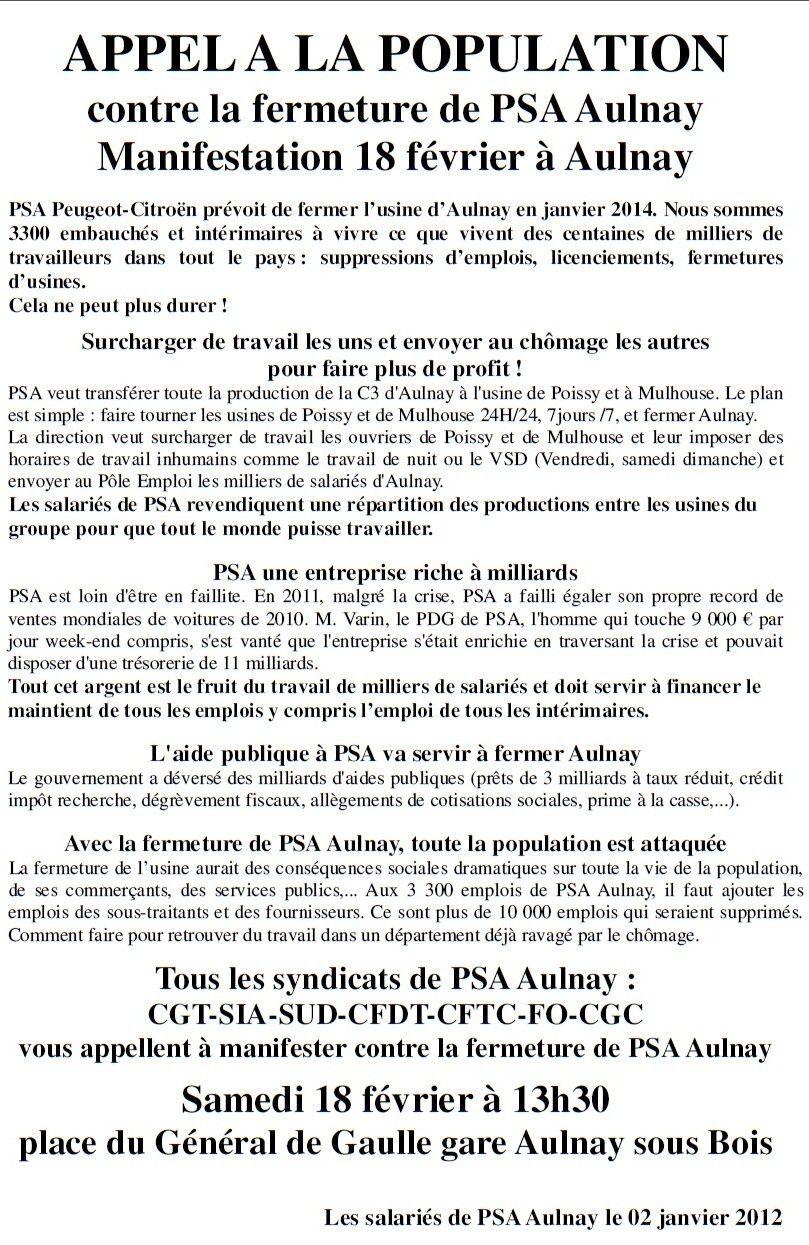 Automobile, luttes des travailleurs Psa-aulnay-18-02-2012
