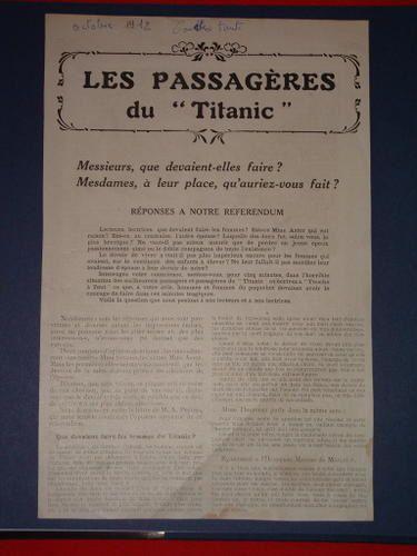 Les passagères du Titanic PASSAGERES