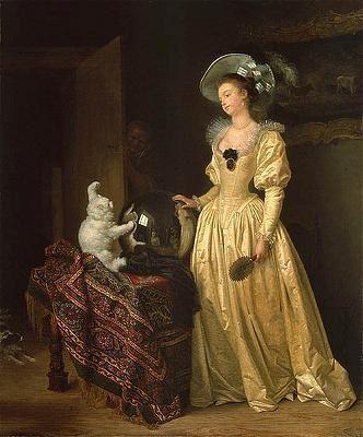 a voir   chats en  peinture MARGUERITE-G-RARD--1761-1837-le-chat-angora