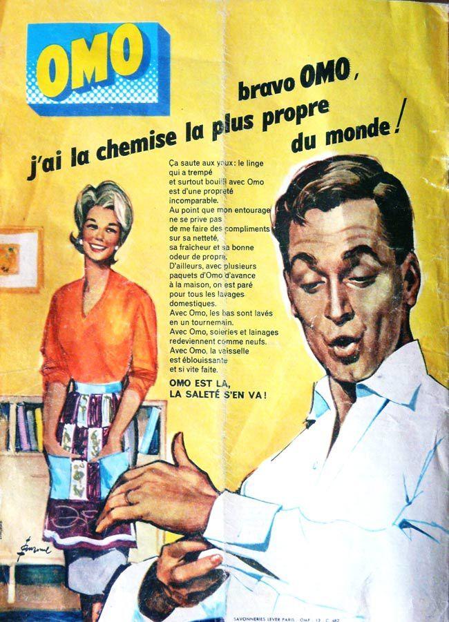 Les affiches du temps passé quand la pub s'appelait réclame .. Omo3