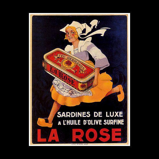 Les affiches du temps passé quand la pub s'appelait réclame .. - Page 36 Sardine