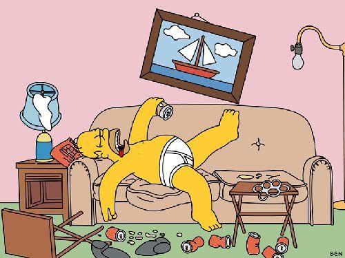 l'art des canettes Homer