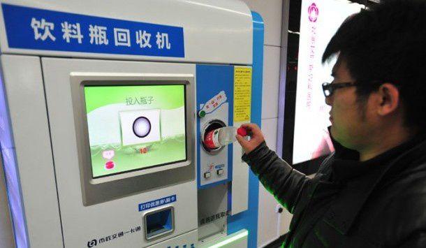 À Pékin, le métro se paie en échange de bouteilles en plastique 20130806162045_pekin_recyclage