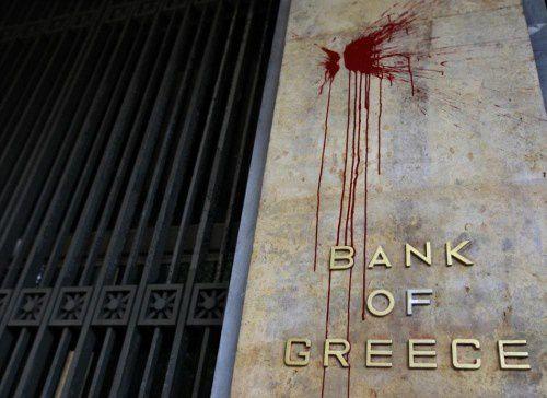 Insurrection sociale et sanglante à venir en Grèce Bank-of-Greece