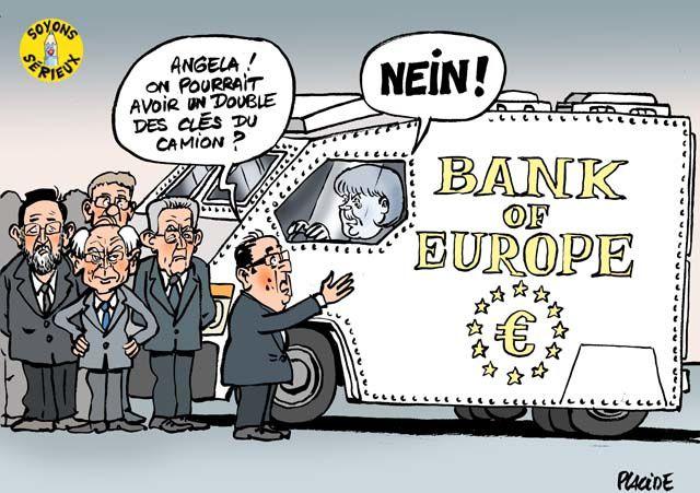 Monti piteux, Merkel triomphante, ou le nouveau Drang nach Osten * Merkel-et-le-coffre-fort-europeen