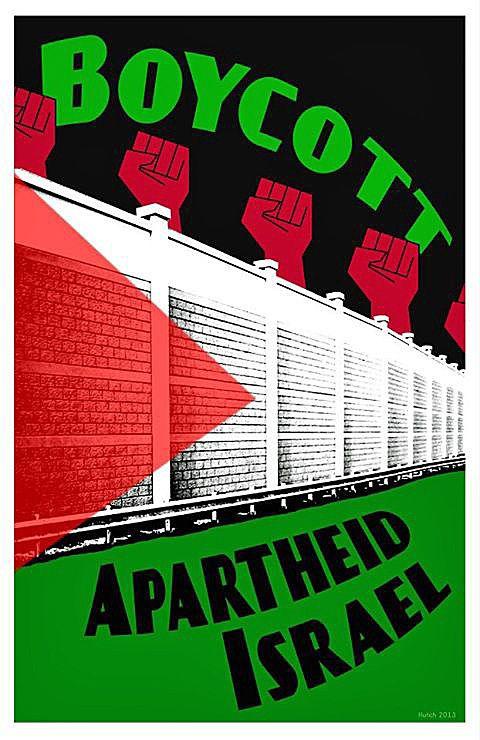 Ne pas acheter de produits israéliens, c'est ne pas cautionner le racisme ! Boycott-apartheid