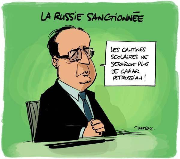 Les sanctions : en voilà un bon plan ! Hollande-Russie