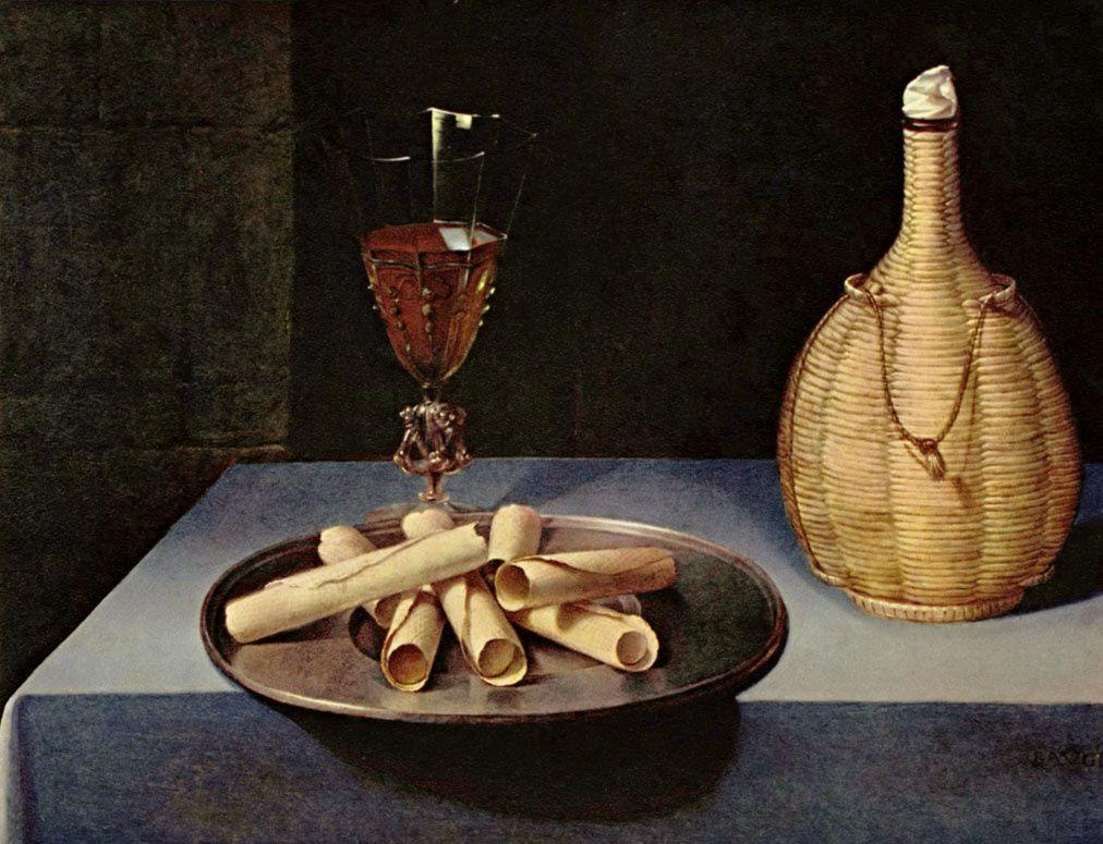 Mes natures mortes préférées Baugin--le-dessert-de-gaufrettes--XVIe