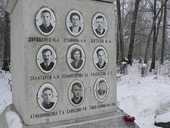 Incident na Dyatlovom prijelazu Spomenik