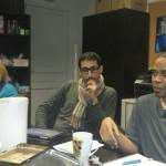 Micheline, Pascal et Omar en pleine réflexion.
