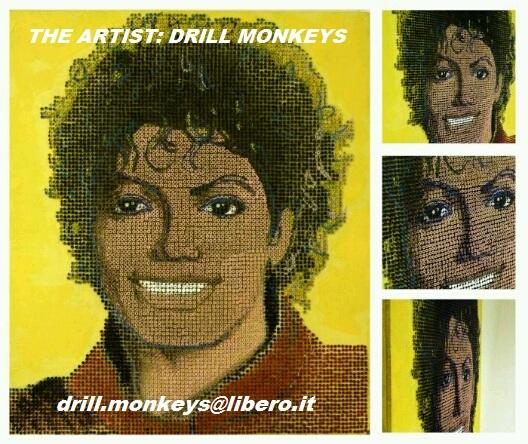 Ritratto di MJ realizzato con 8000 viti 2006794944